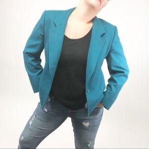 VTG Pendleton wool blazer career work USA jacket